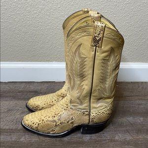 Tony Lama men's Python Snake Skin Boots Size 7